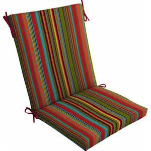 mainstays outdoor dining chair cushion bright stripe