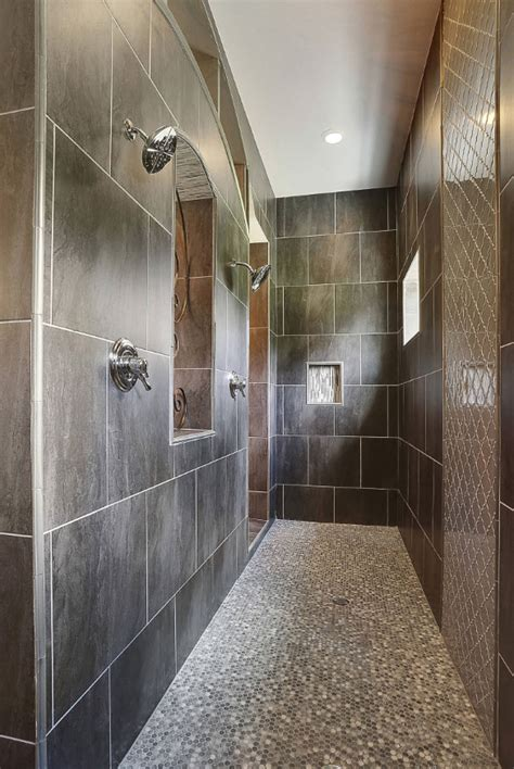 gray and blue bathroom ideas 27 walk in shower tile ideas that will inspire you home