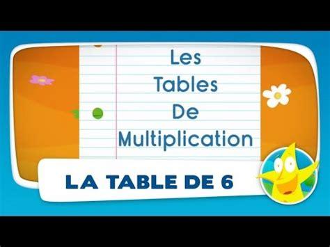 la table de multiplication de 6 comptines pour enfants la table de 6 apprendre les tables de multiplication