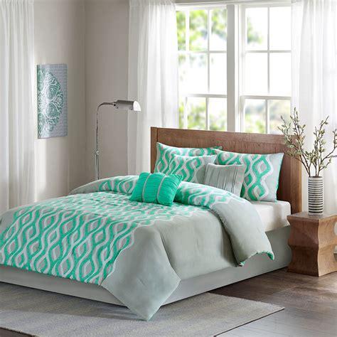 mint green and grey bedding beautiful modern chic grey mint blue green ruffled