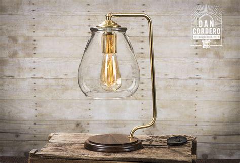 Lamp : Glass Shade Edison Bulb Table Lamp