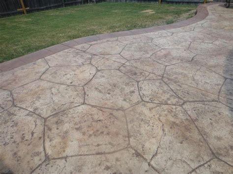 concrete patio dallas property flagstone sted concrete gallery decorative and
