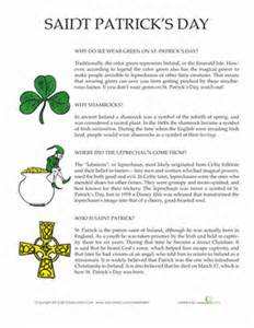 st 39 s day facts worksheet education
