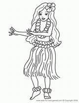 Coloring Hula Hawaiian Neopatrol sketch template