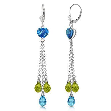 Topaz Chandelier Earrings by 9 5 Carat 14k Solid White Gold Chandelier Earrings