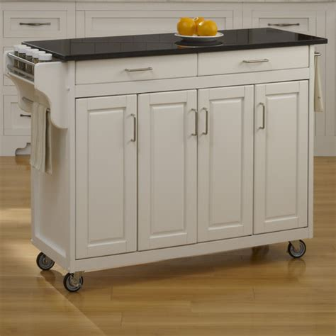kitchen island cart granite top home styles create a cart kitchen island with granite top