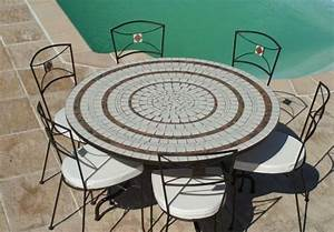 Table De Jardin En Fer Forge Mosaique 28 Images Salon Jardin Fer ...