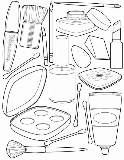 Coloring Makeup Pages