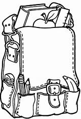 Backpack Coloring Pages Goods Results sketch template