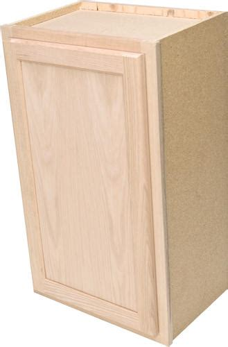 menards unfinished kitchen cabinets quality one 15 quot x 30 quot unfinished oak standard wall cabinet 7437