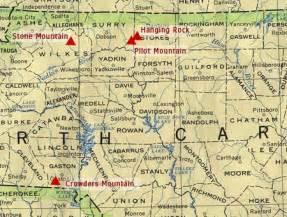 North Carolina Mountain NC Map