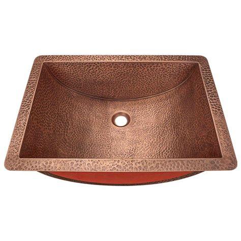 undermount copper kitchen sinks polaris sinks undermount bathroom sink in copper p629 6578