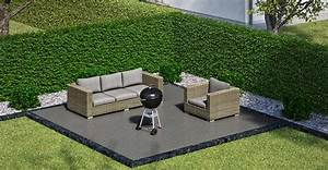 garten sitzecke grillplatz gestalten obi gartenplaner With garten planen mit balkon mit wpc