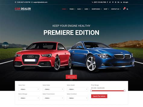 Best Car Selling Websites 15 Best Car Dealer Themes 2019 Athemes
