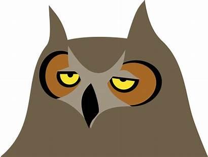 Bored Owl Clipart Cartoon Clip Burung Hantu