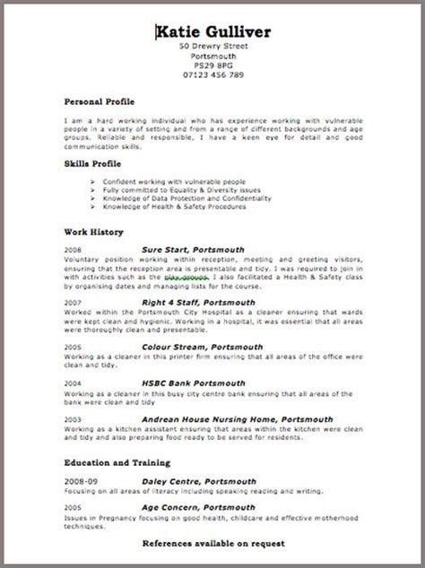 Best Curriculum Vitae Format by 17 Best Ideas About Curriculum Vitae Exles On