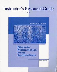 Discrete Mathematics And Its Applications Solution Manual