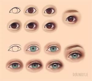 Asian vs Caucasian Eye Steps by Dorinootje | Referencia ...
