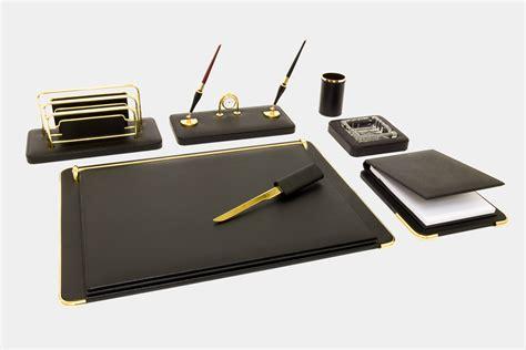 set scrivania mont blanc set scrivania 7 pz in pelle quot gemini quot made in italy orna