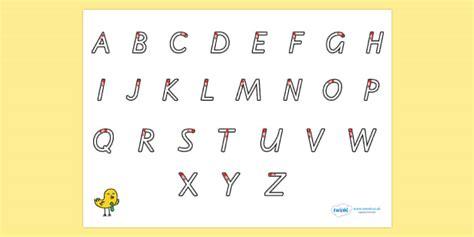 letter formation alphabet handwriting sheet uppercase