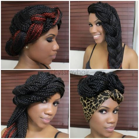 4 simple gorgeous styles for box braids black girl with