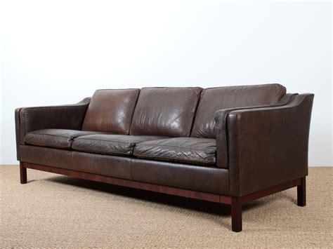 canap danois canapé danois 3 places en cuir galerie møbler