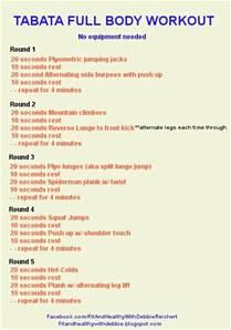 Full Body Tabata Workout Routine