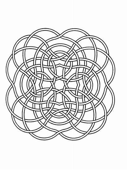 Mandala Mandalas Simple Coloring Pages Children Lines