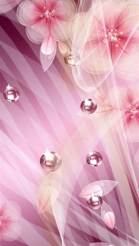 feminine background pretty feminine pink purple sparkle flowers iphone