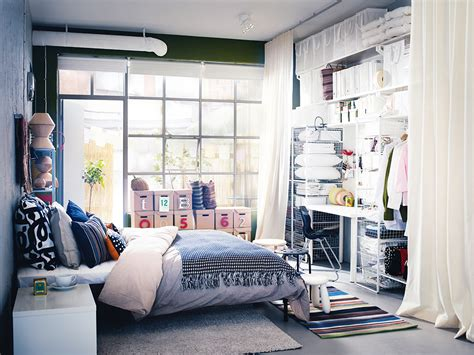 creative storage ideas for small bedrooms with no closet