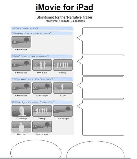 imovie trailer templates printable pdfs for imovie trailer storyboards welcome to the world of grade