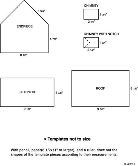 gingerbread house template pdf 10 images about gingerbread house templates on gingerbread houses tutorials and