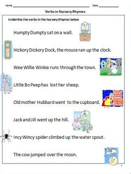 Verbs Worksheets ( Action Words ) For Grade 1 By Rituparna Reddi