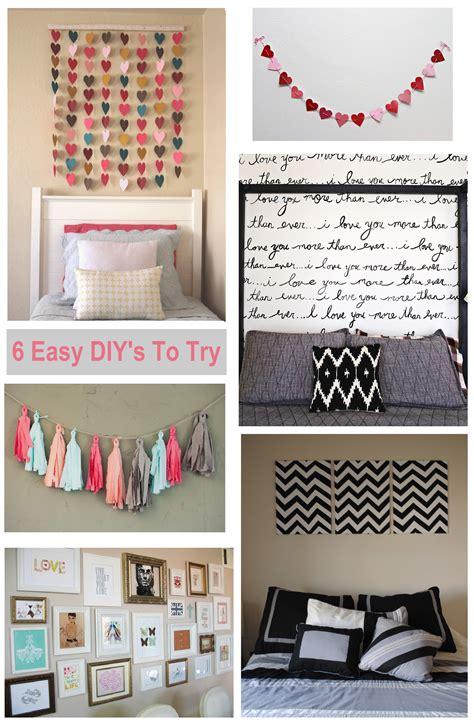 Diy Bedroom Wall Decor by 6 Diy Bedroom Wall Ideas Shopgirl