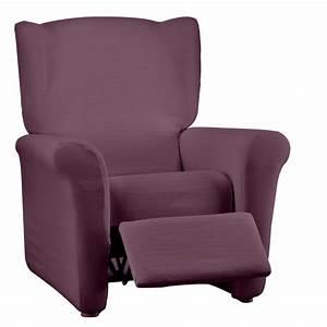 Housse De Fauteuil : housse extensible fauteuil relaxation blancheporte ~ Teatrodelosmanantiales.com Idées de Décoration