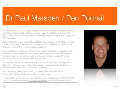 Paul Marsden Pen Portrait