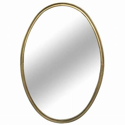 Oval Shaped Mirror Brass Mirrors French 1stdibs