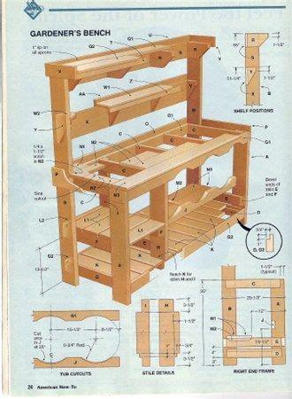 diy   build  garden potting bench pallet
