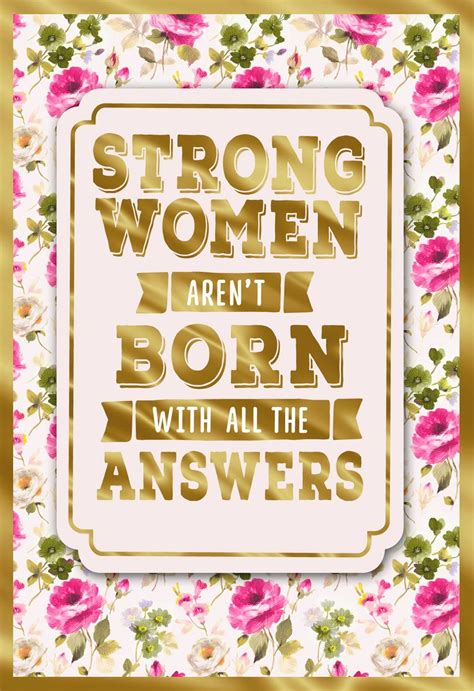 strong women birthday card  daughter greeting cards