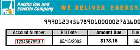 pg e customer service phone number the 11 digit pg e account number may be found in the