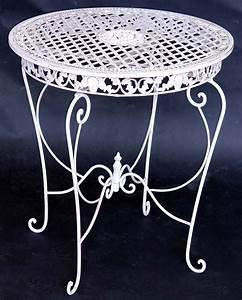 Gartentisch Metall Rund : eisen tisch rund gartentisch metall terassentisch weiss ebay ~ Yasmunasinghe.com Haus und Dekorationen