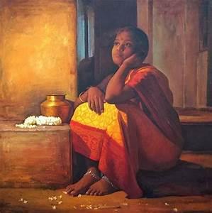 Classic Paintings of Tamilnadu Women ~ Teen - 6 - Teen