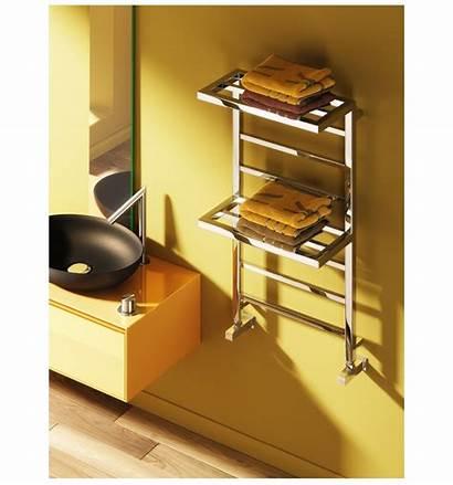 Towel Rail Shelf Designer Elvina Double Rails