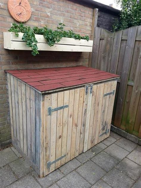 pallet garbage storage box pallets designs
