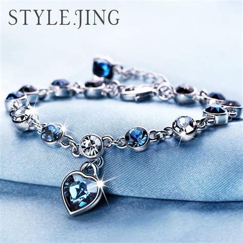 Best Quality Austrian Crystal Full Diamond Bracelet Silver