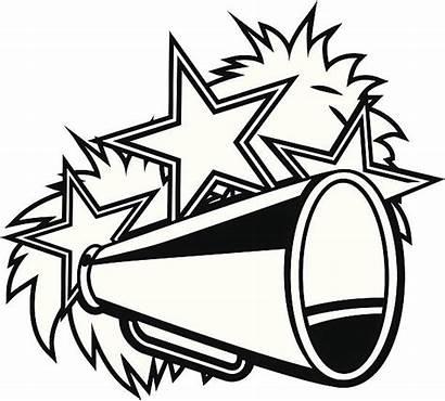 Pom Megaphone Cheerleader Vector Clip Illustrations Pompoms