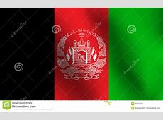 Flag Of Afghanistan Vector Illustration Cartoon Vector