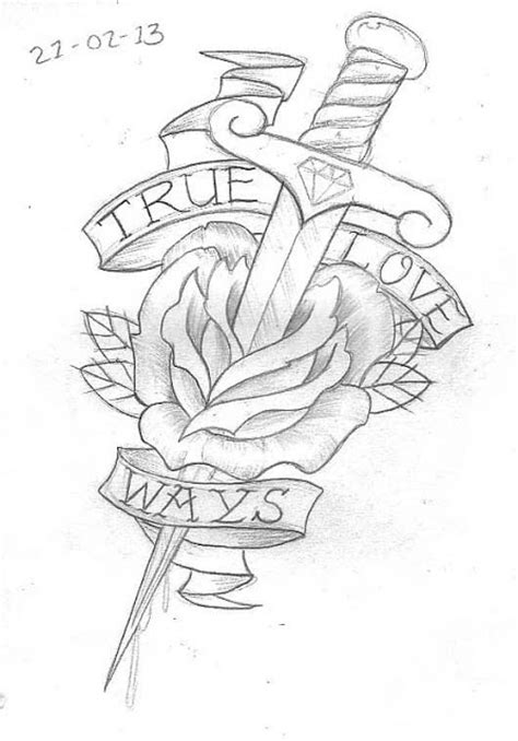 Tattoo Sketch A Day: Flowers February 15th - 21st