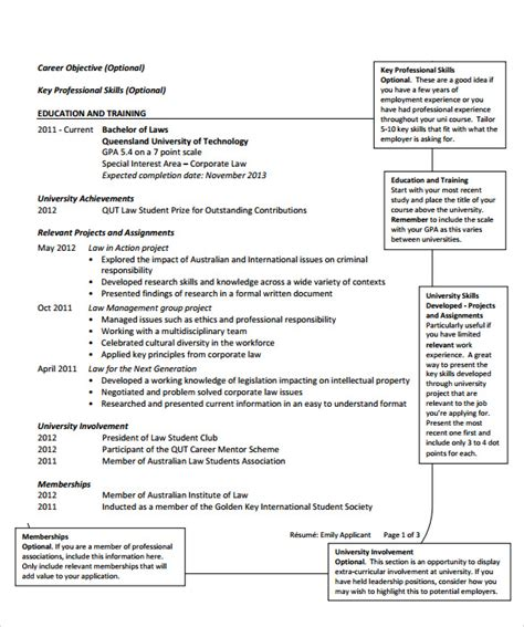 Resume Templatescom by Sle Resume Template 13 Free Documents In Pdf Word