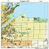 Oregon Ohio Street Map 3958730